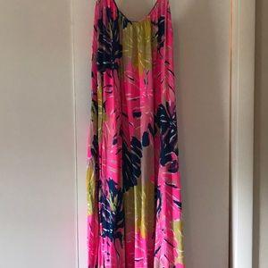 Lily pulitzer maxi dress size small/medium